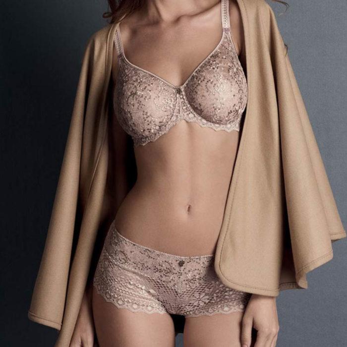 Empreinte Cassiopee rose sauvage lingerie set