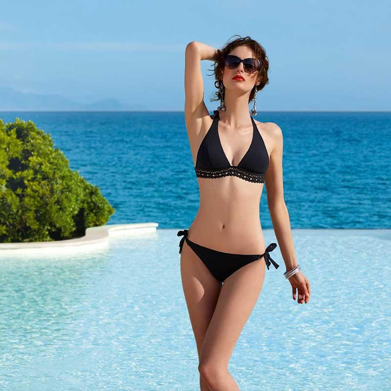 Lise Charmel Ajourage Couture Triangle Bikini Top Noir