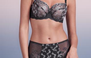 Empreinte Flora Gris Smoke lingerie set