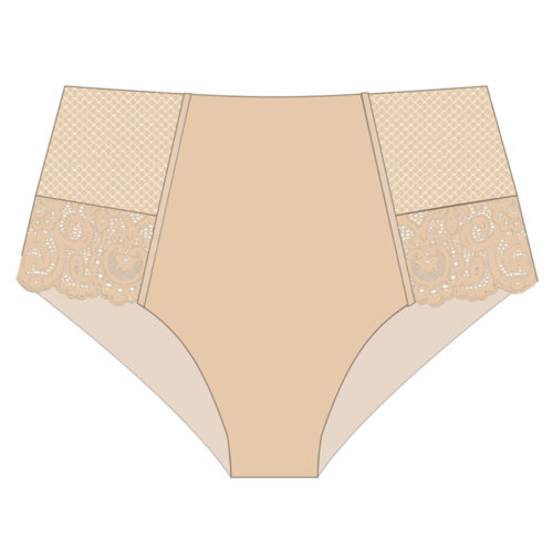 Maison Lejaby Gaby Rose Fume High-Waisted Brief